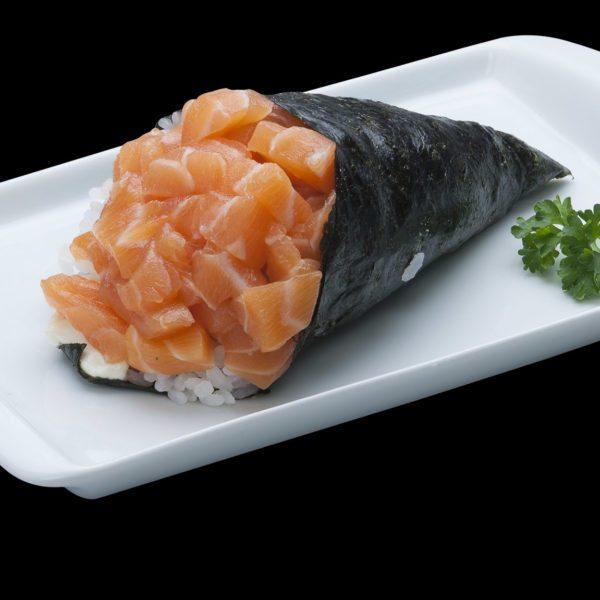 Temaki de Salmão Simples | Sushi Rão, Restaurante Japonês