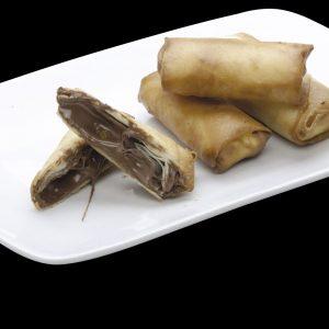 Harumaki de Chocolate Preto | Restaurante Japonês Sushi Rão