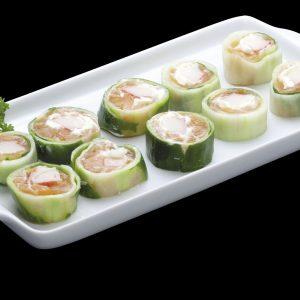 Roll Salmão Light | Sushi Rão, Comida Japonesa.