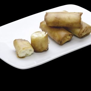 Harumaki de Chocolate Branco | Restaurante Japonês Sushi Rão