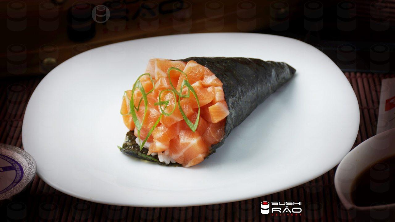 Temaki de Salmão - Delivery Sushi Rão