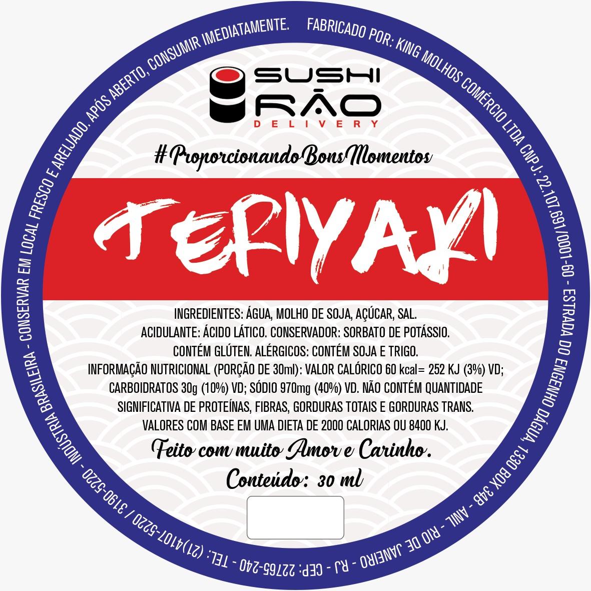 Teriyaki - Sushi Rão, o Maior Delivery de Sushi do Rio e do Brasil